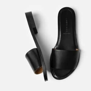 Everlane Black Leather Slide Sandal